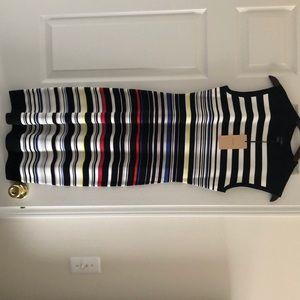 Midi sleeveless striped dress